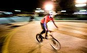 Biker at night