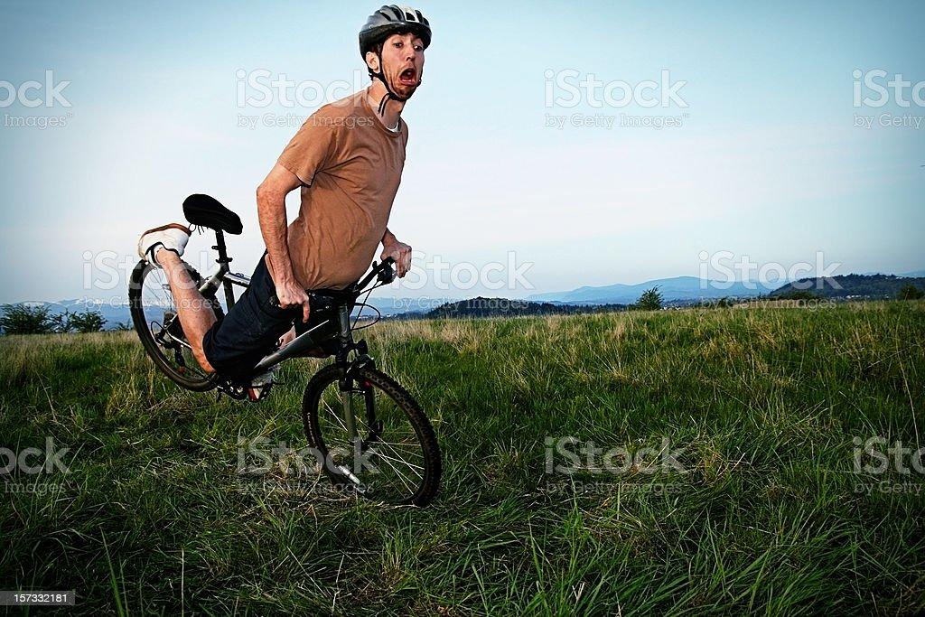 Biker Crash stock photo