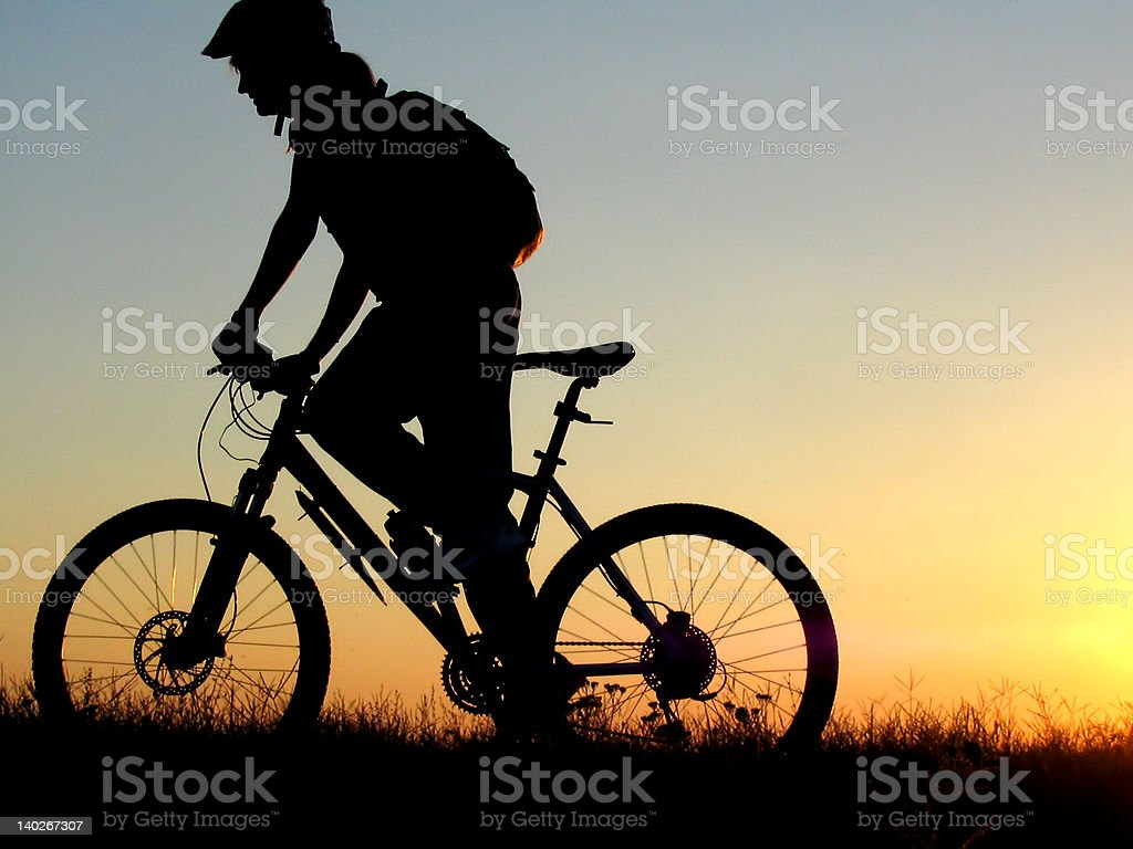biker girl royalty-free stock photo