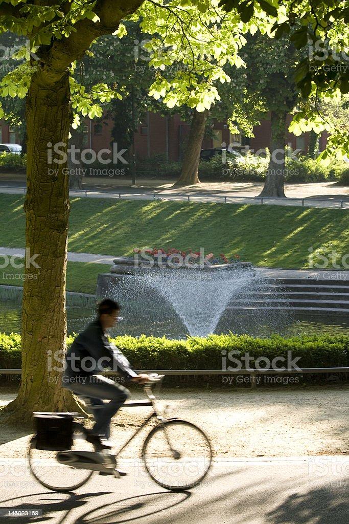 Biker in park royalty-free stock photo