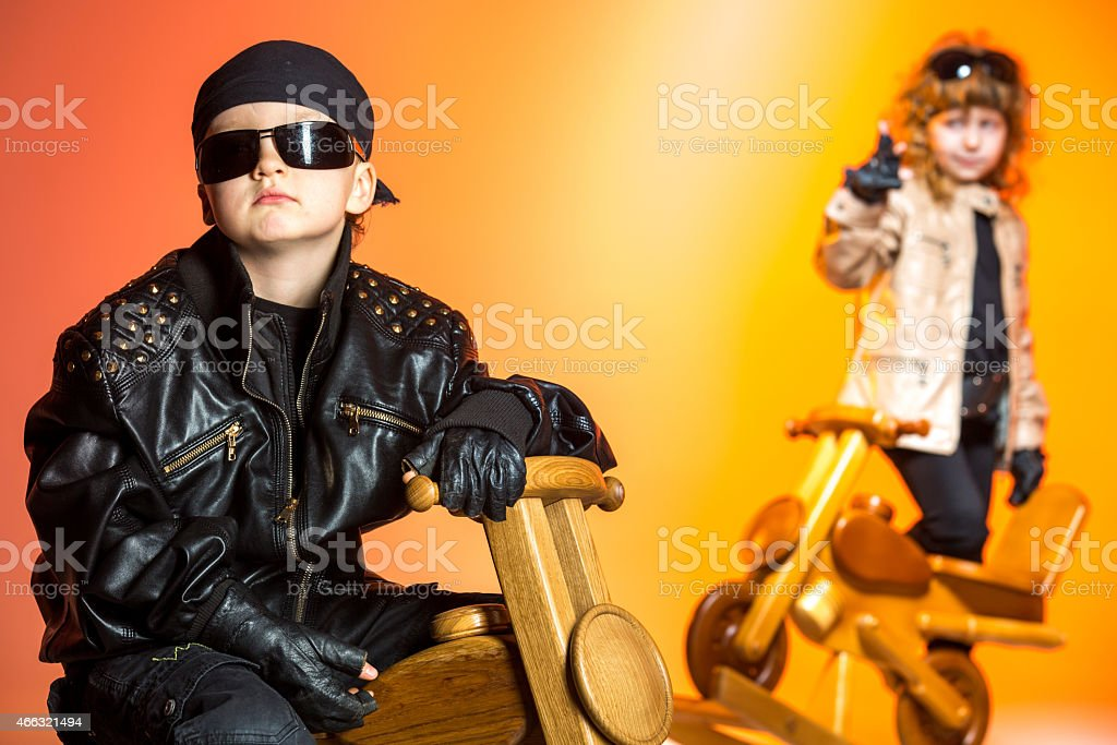 Biker indeed stock photo