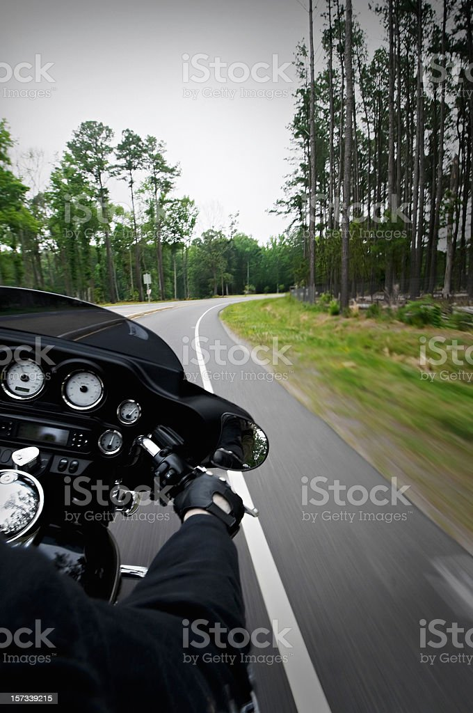 biker on the move stock photo