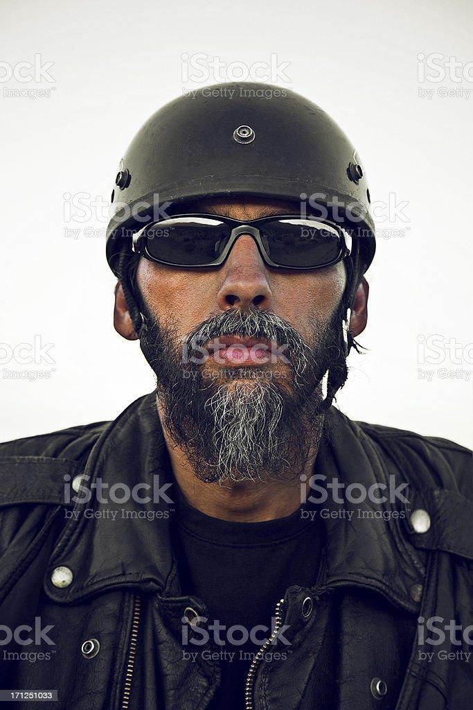 Biker Portrait stock photo