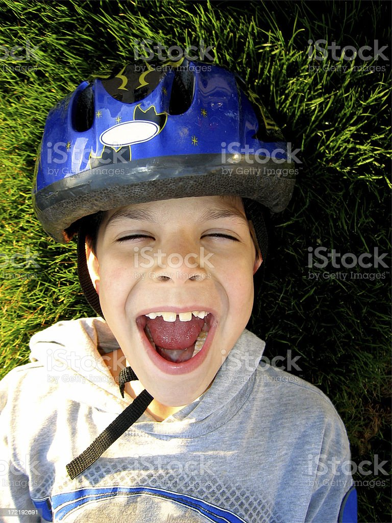 Biker Rest royalty-free stock photo