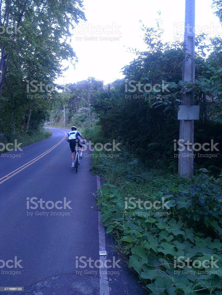 Biker road cycling royalty-free stock photo