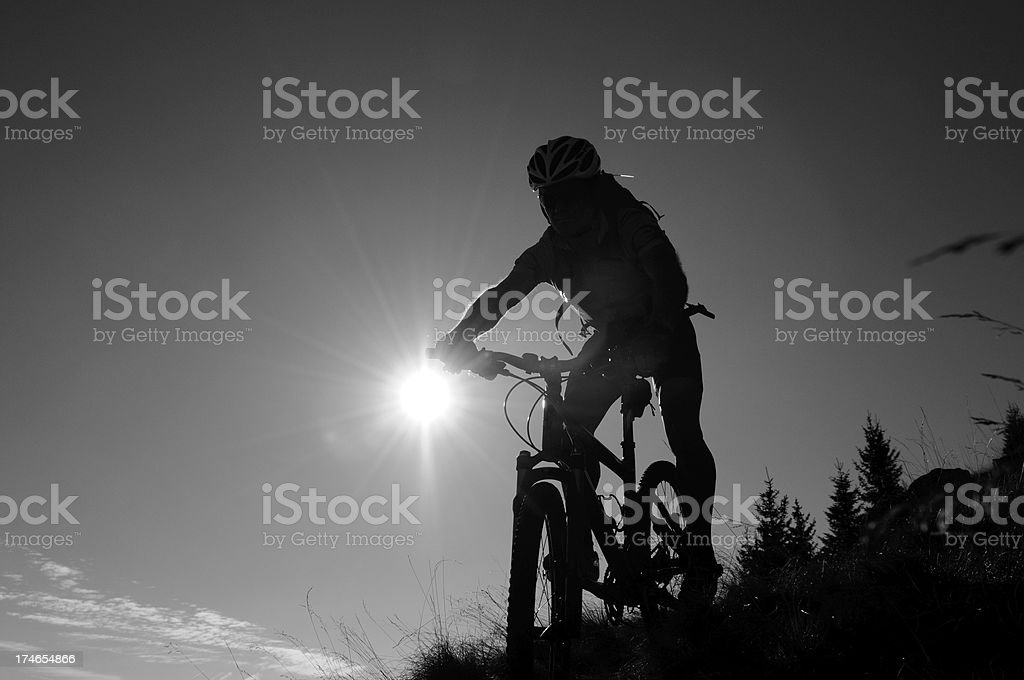 biker silhouette stock photo