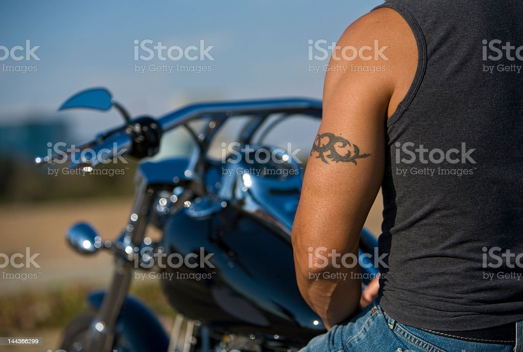 Biker Tattoo stock photo