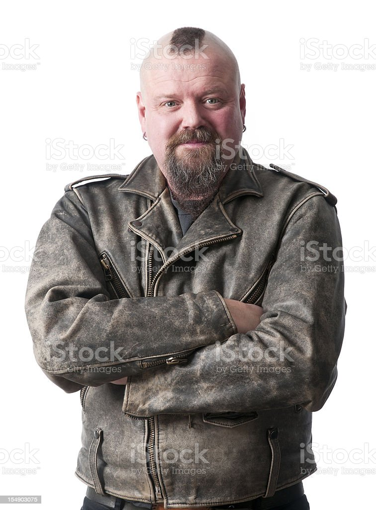 biker with arms crossed royalty-free stock photo