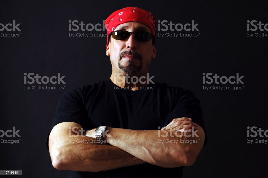 BikerDude royalty-free stock photo
