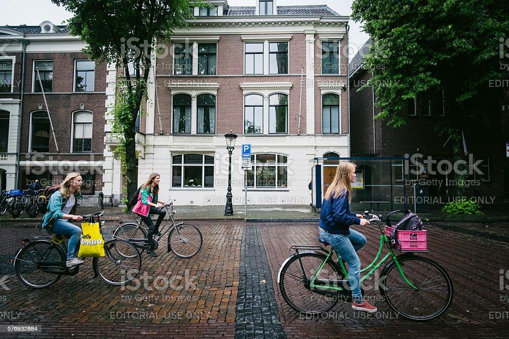 Bikers at Utrecht stock photo