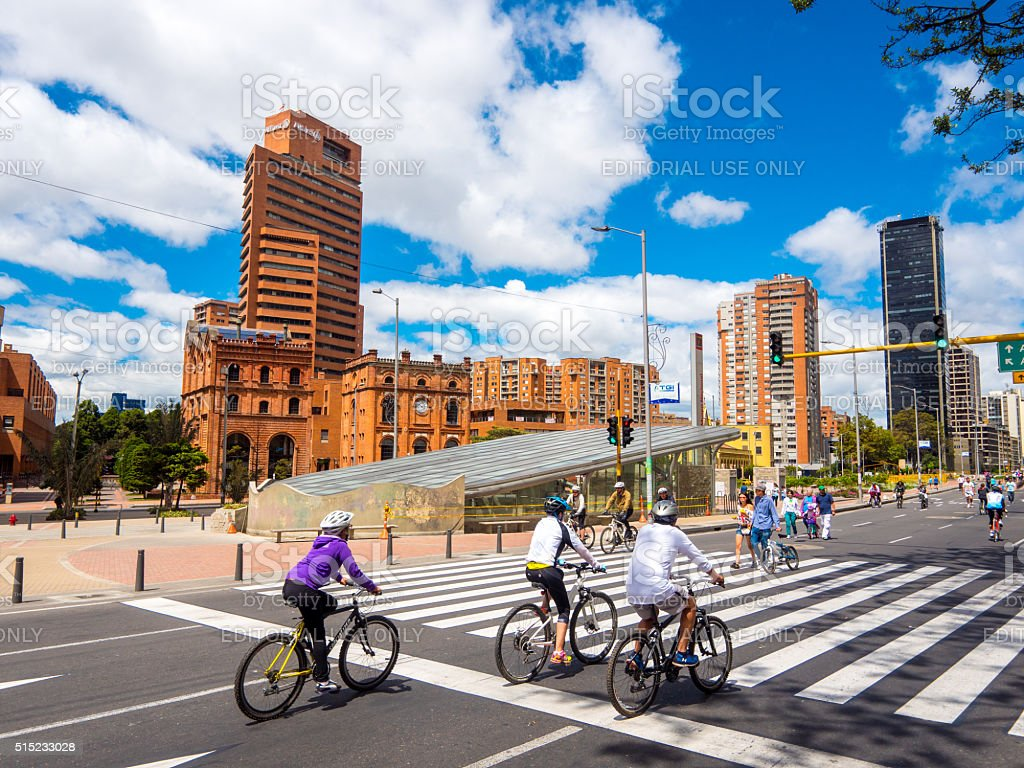 Bikers in Bogota, Colombia stock photo