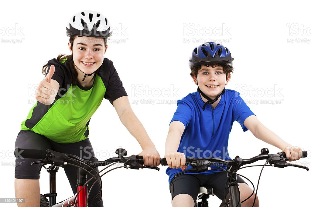 Bikers isolated on white background royalty-free stock photo