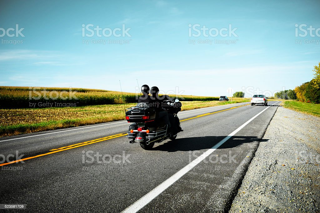Bikers on the Road, California. stock photo