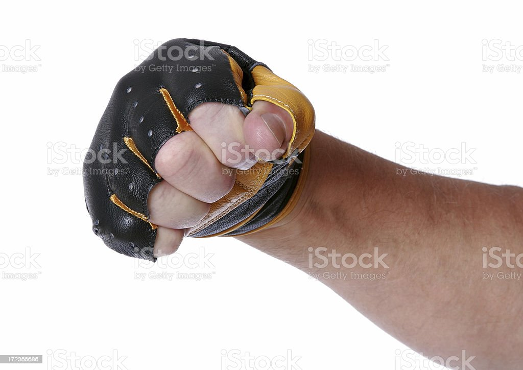 Biker's Raging Fist royalty-free stock photo