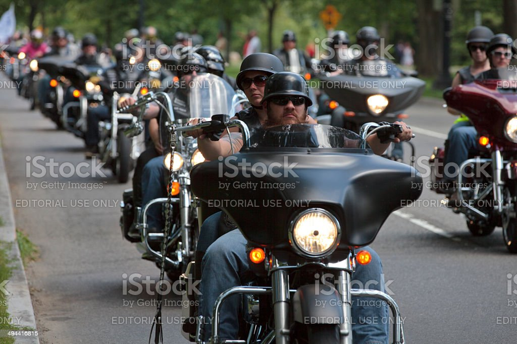 Bikers ride stock photo