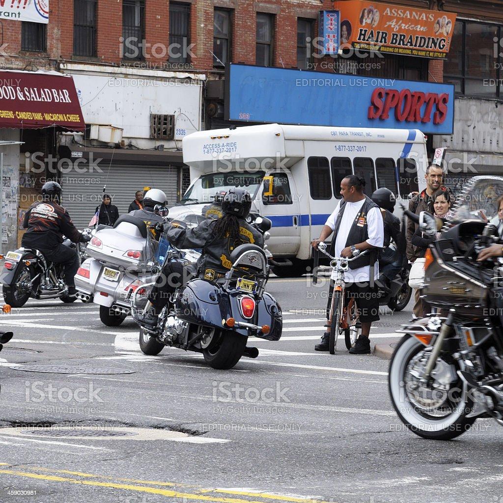Bikers Riding,NYC. royalty-free stock photo