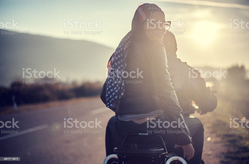 Bikers trip stock photo