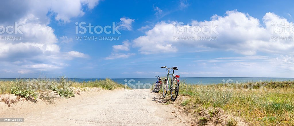 Bikes at the Beach stock photo