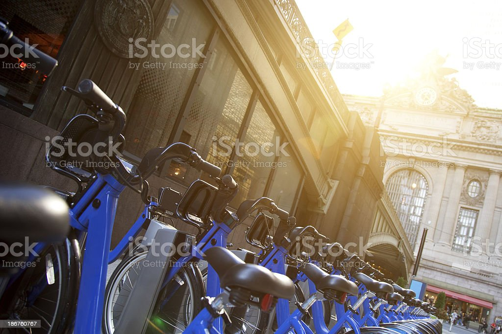 Bikes for rent in Grand Central Station royalty-free stock photo