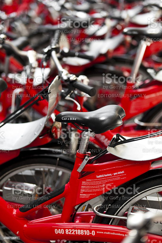 bikes for rent royalty-free stock photo