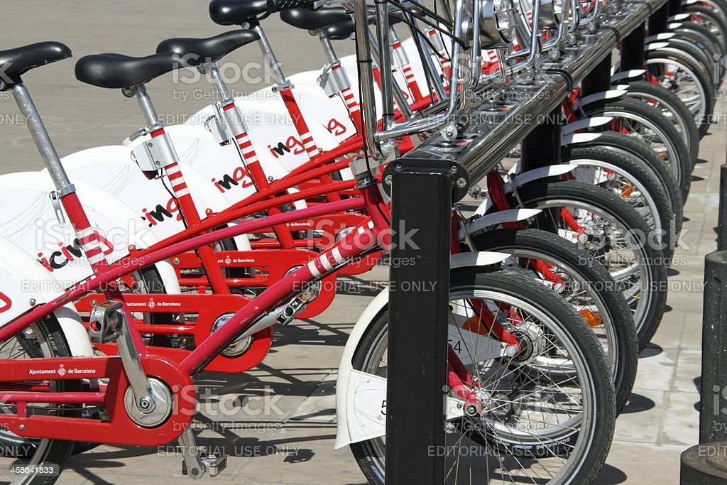 Bikes in Barcelona, Spain stock photo