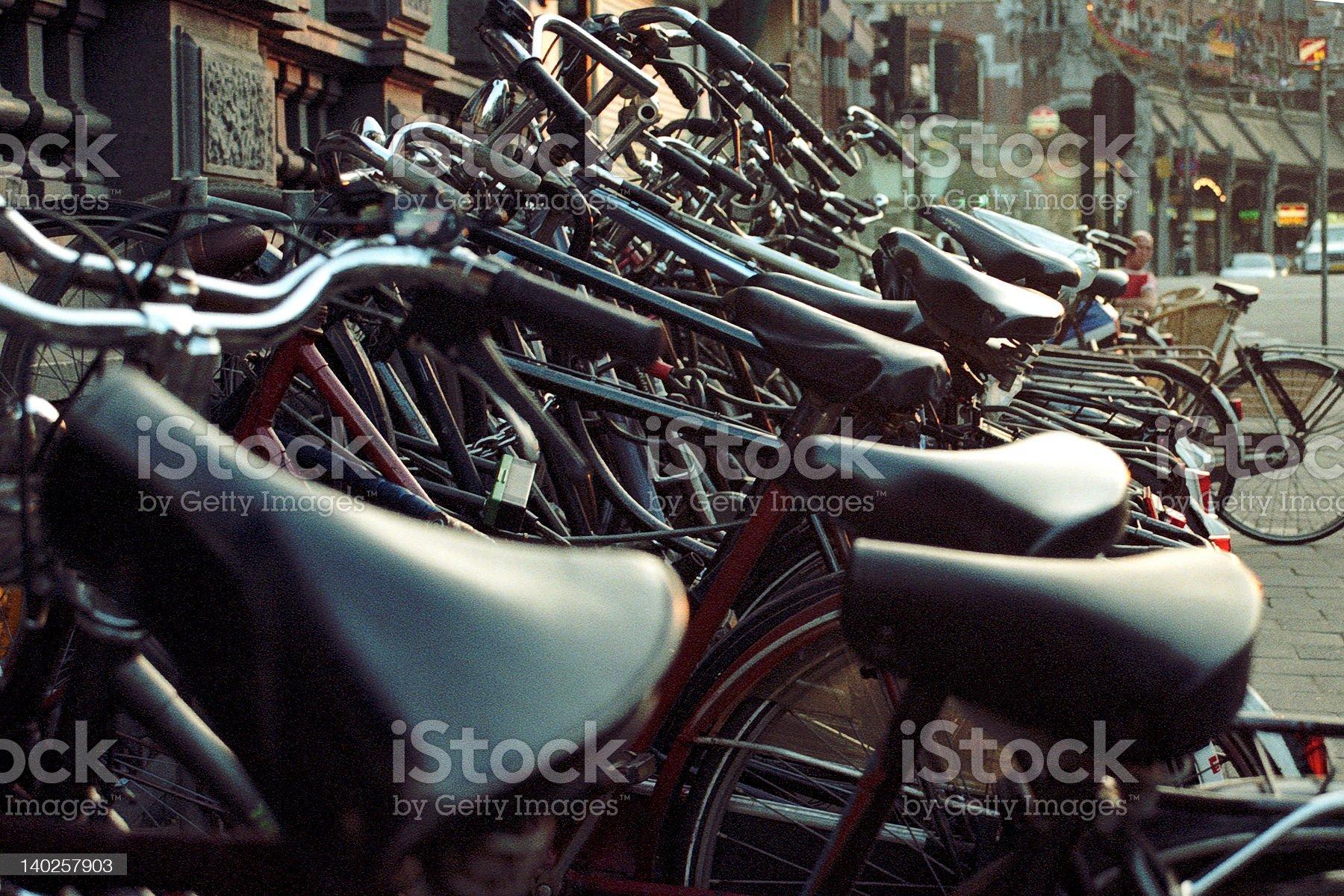 Bikes of Amsterdam royalty-free stock photo