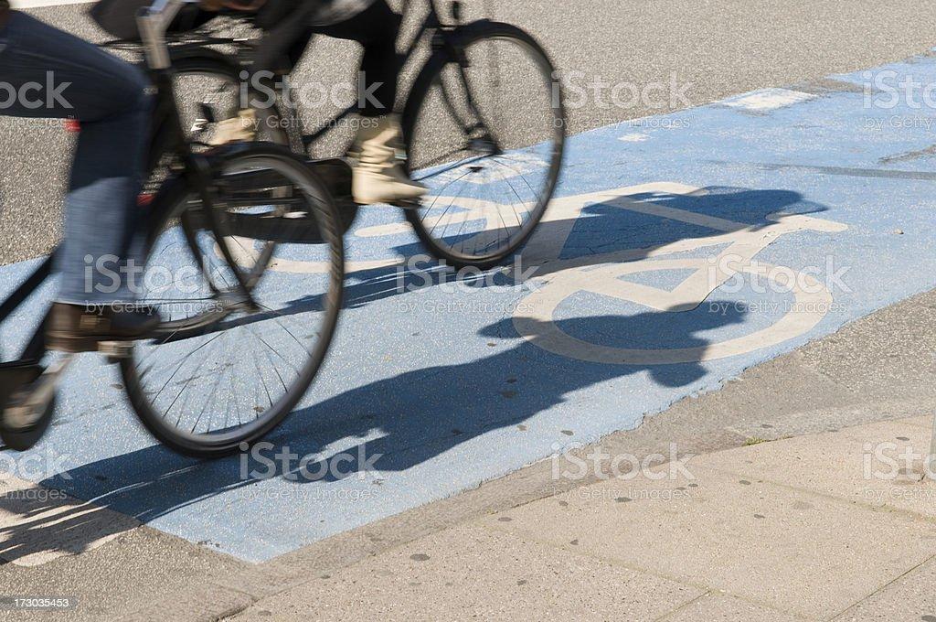 bikes on bike lane royalty-free stock photo