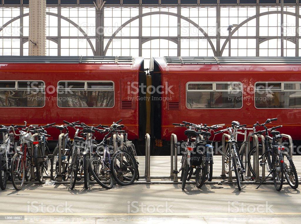 Bikes & Trains stock photo