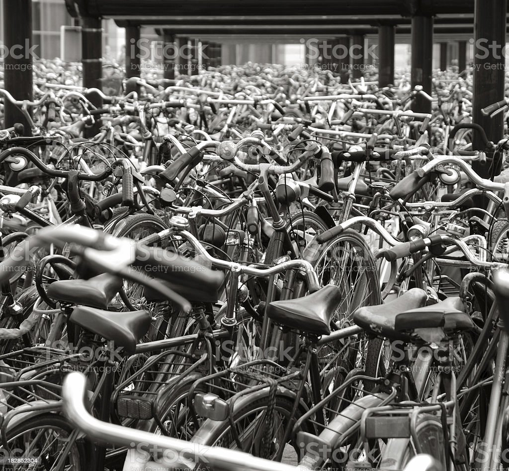 Bikes until the end royalty-free stock photo
