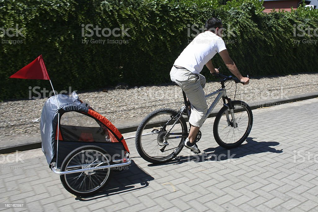 biketrailer royalty-free stock photo