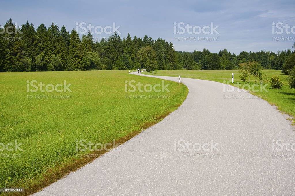 Bikeway royalty-free stock photo