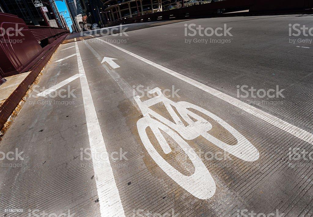 Bikeway stock photo