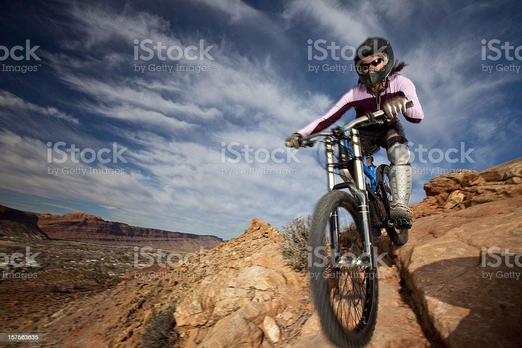 Biking Action royalty-free stock photo