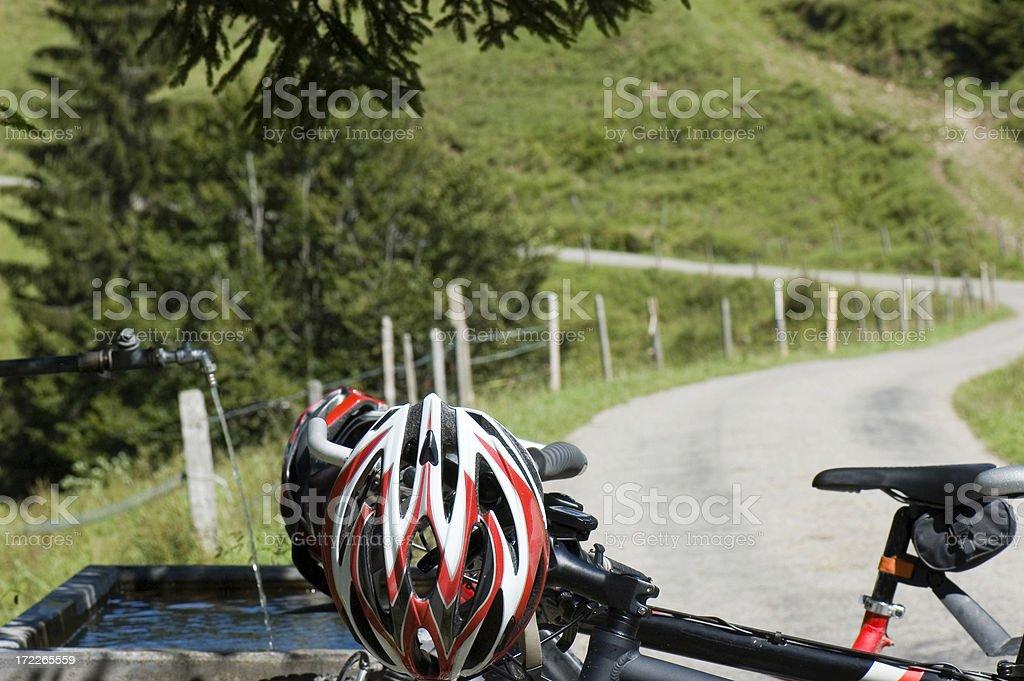 Biking Break stock photo