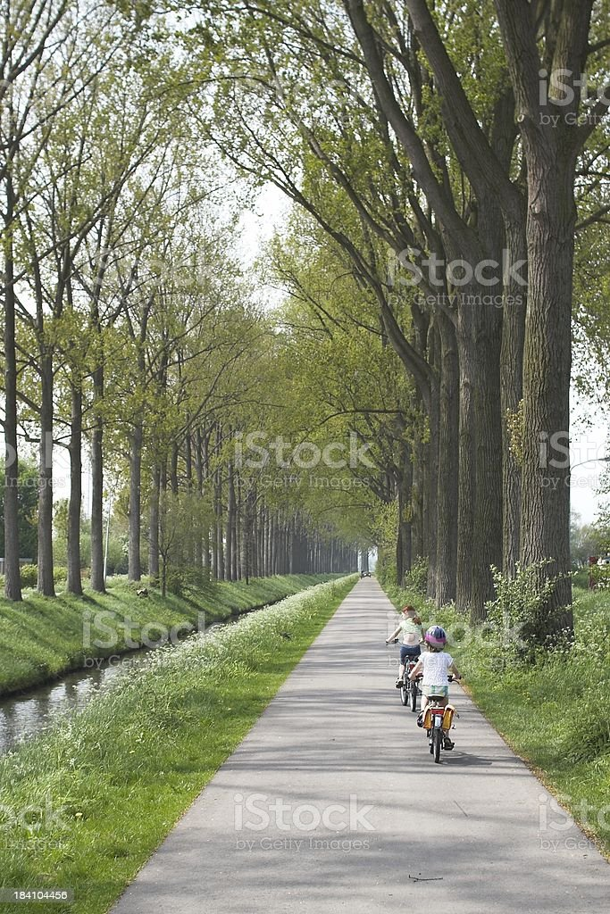 Biking in Holland royalty-free stock photo