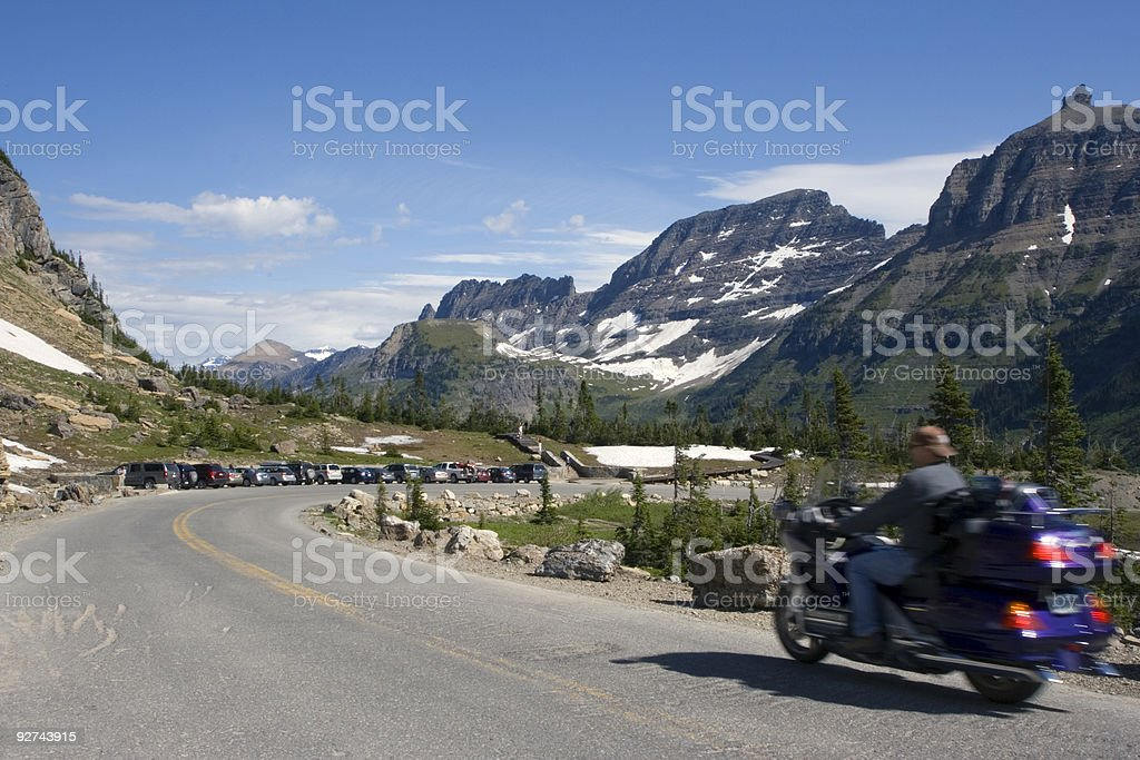 Biking in Montana royalty-free stock photo