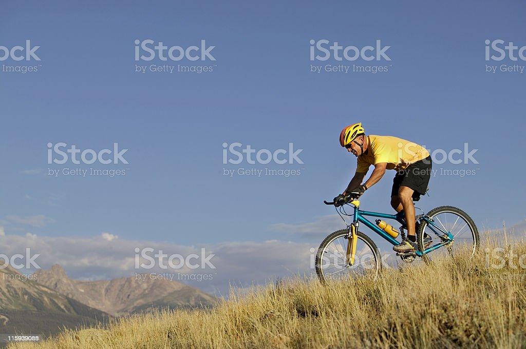 Biking in Mountains royalty-free stock photo