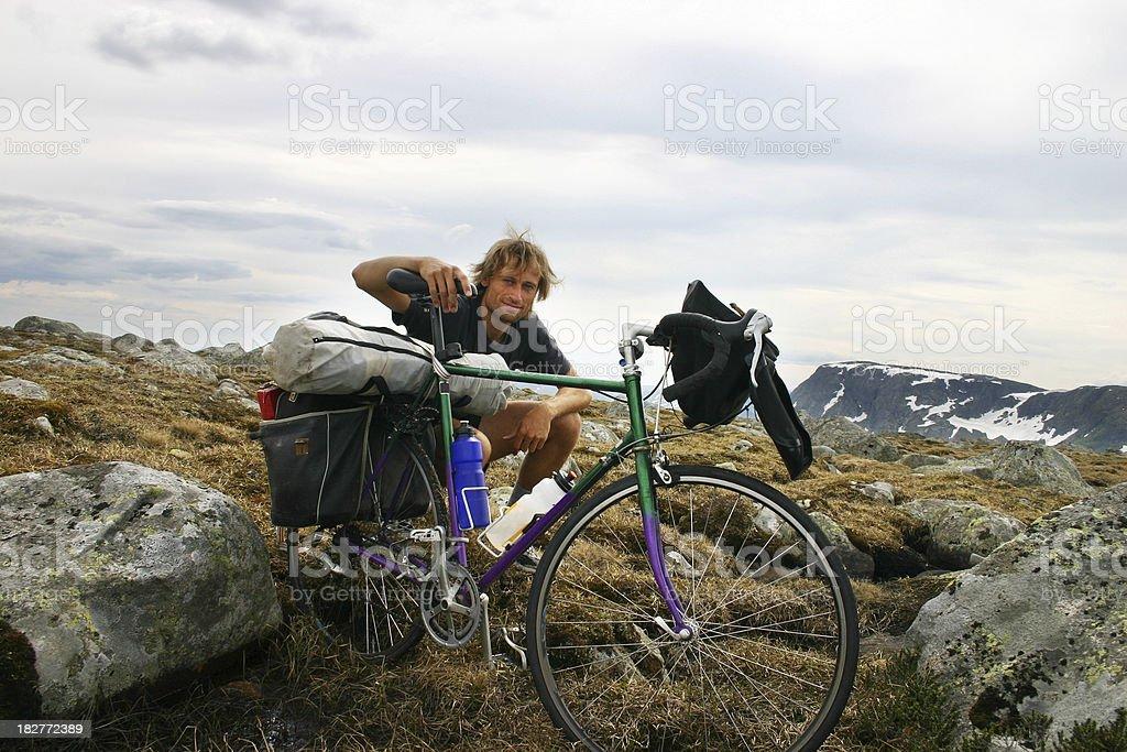 Biking in Norway stock photo