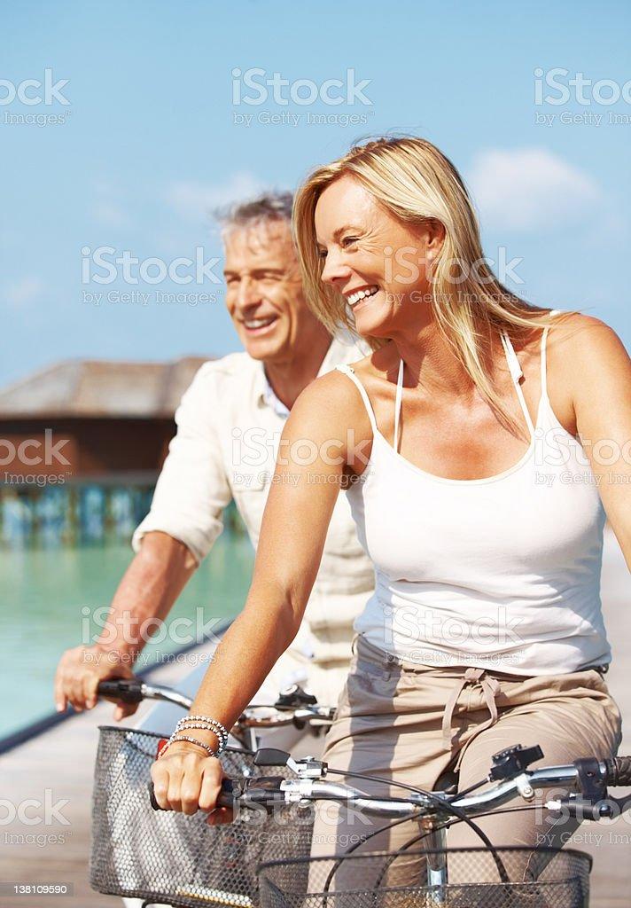 Biking in paradise royalty-free stock photo