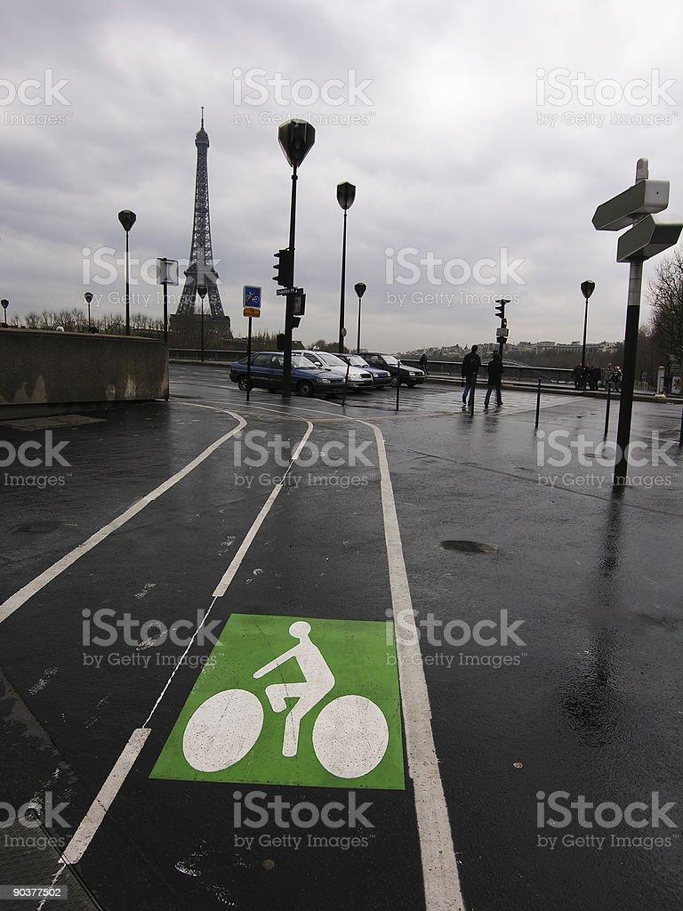 Biking in Paris royalty-free stock photo