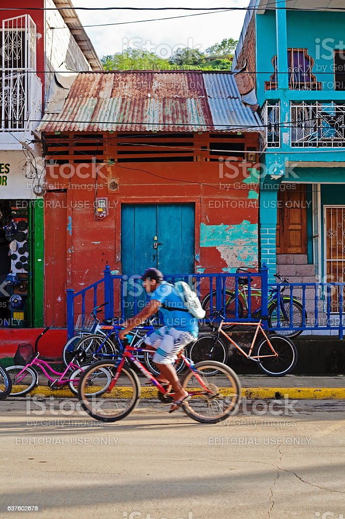Biking in San Juan del Sur stock photo