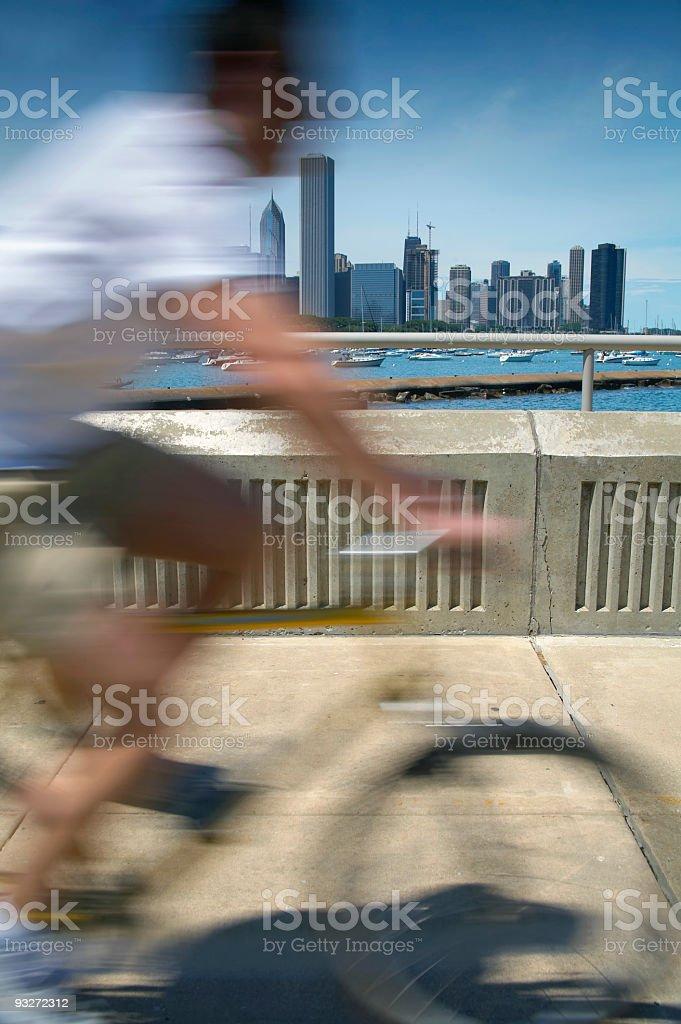 Biking In the City royalty-free stock photo