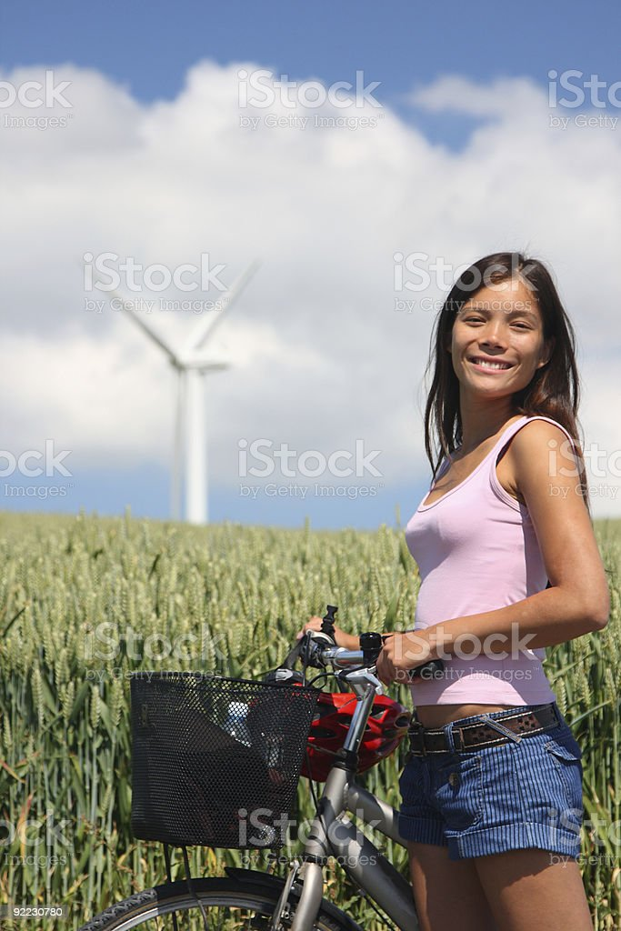 Biking in the countryside royalty-free stock photo