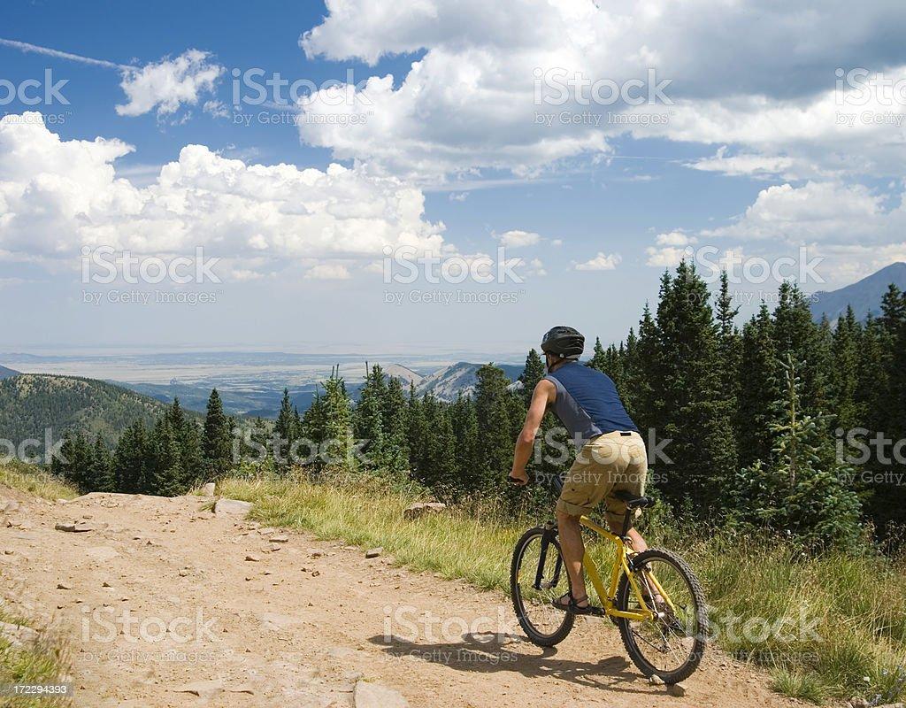 Radfahren in den Hills Lizenzfreies stock-foto