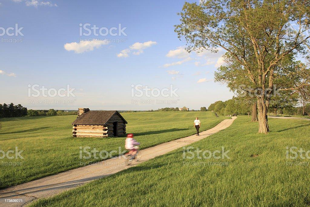 Biking in the park royalty-free stock photo