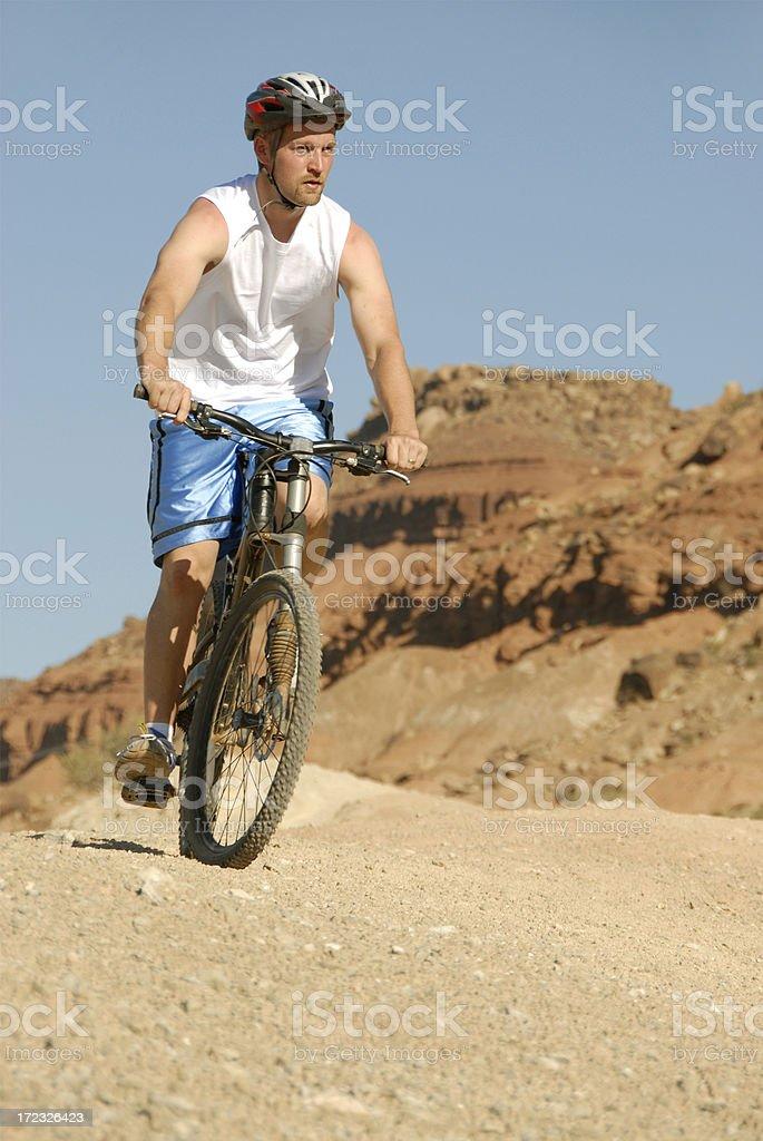 Biking in Utah stock photo