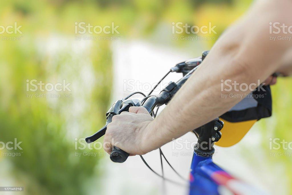 biking outdoors royalty-free stock photo