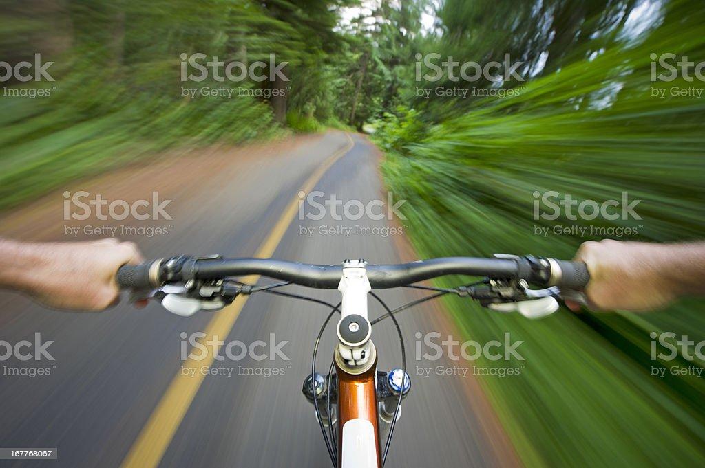 POV Biking stock photo