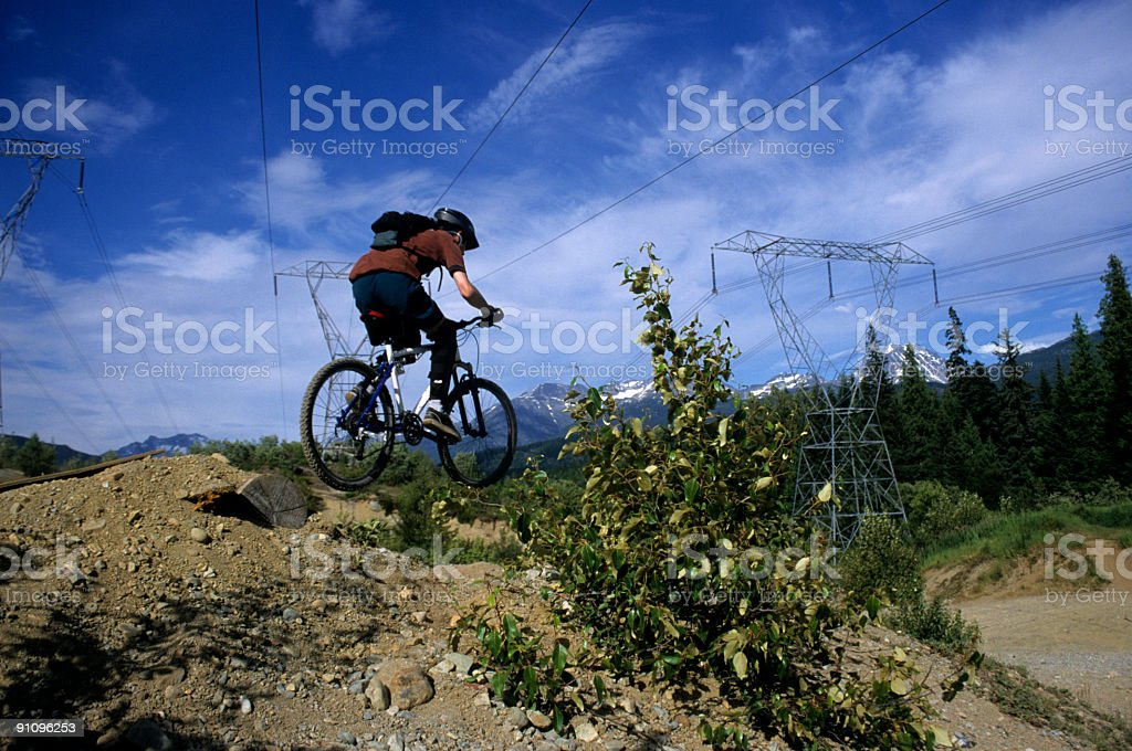 Biking royalty-free stock photo