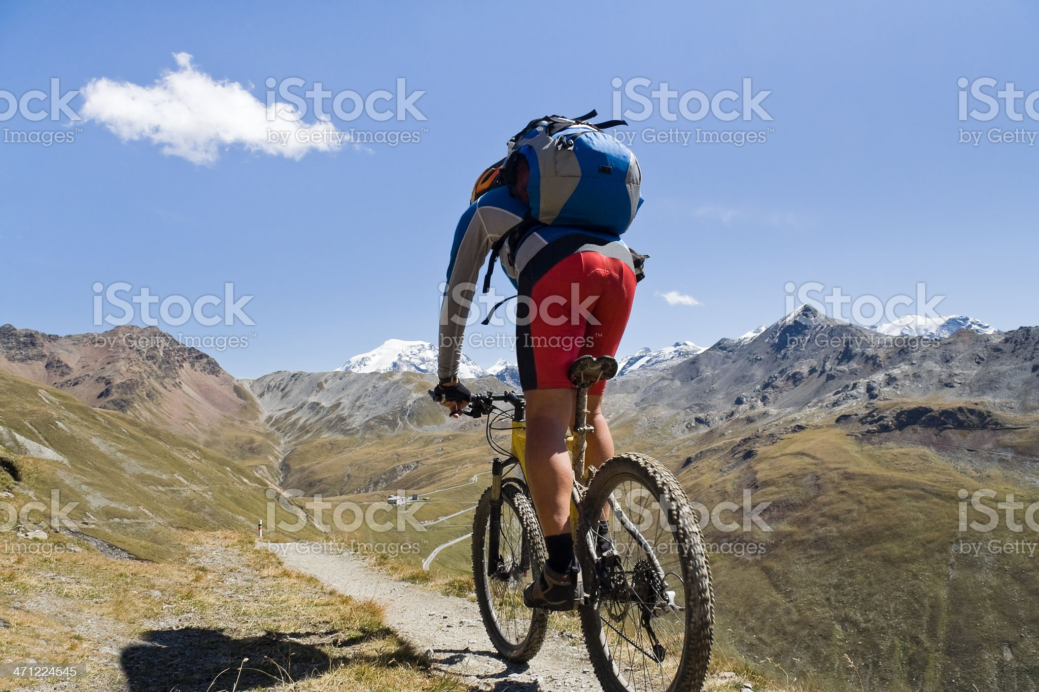 Biking the Ortles Alps, South Tyrol royalty-free stock photo